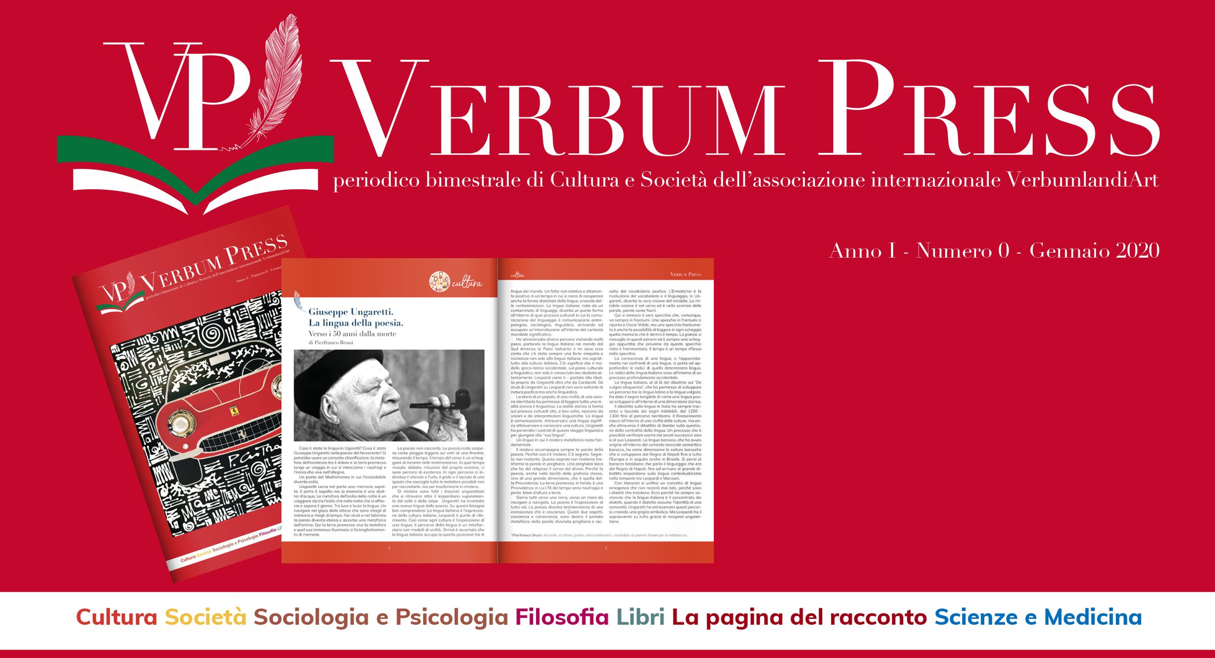 Verbum Press, nasce la nuova rivista culturale