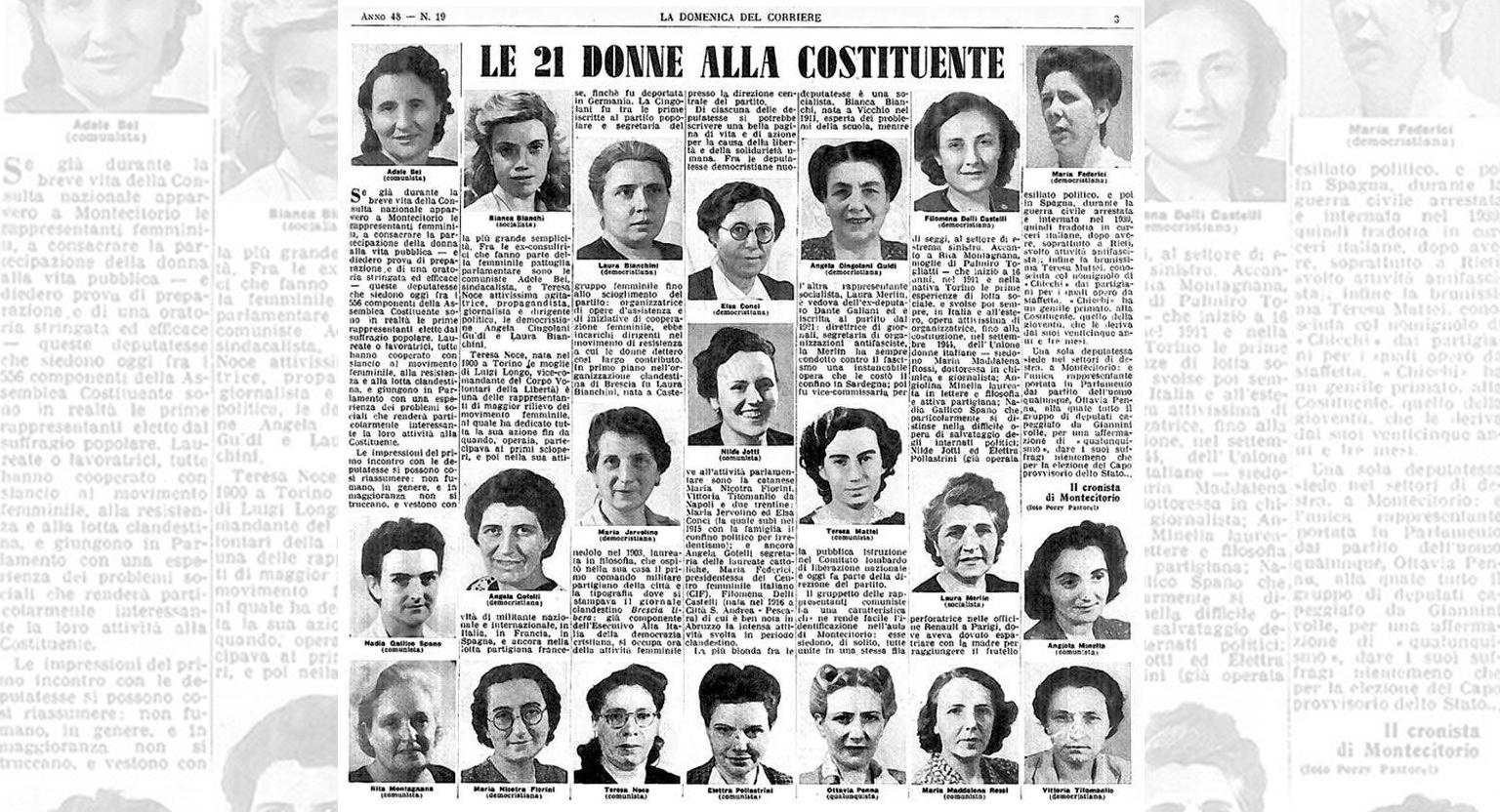 2 giugno: omaggio dell'ANPI alle 21 Madri costituenti A L'Aquila fiori sulla tomba di Maria Federici nella cappella di famiglia di Goffredo Palmerini